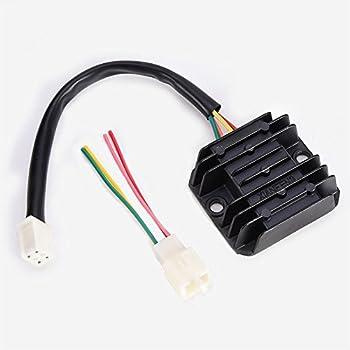 amazon com wingsmoto rectifier regulator 4 wires voltage atv gy6 50 rh amazon com Mopar Alternator Wiring Diagram GM Voltage Regulator Wiring Diagram