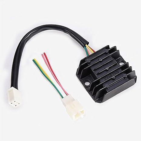 wings 4 wires voltage regulator rectifier atv gy6 50 150cc GY6 150Cc Vacuum Line Diagram