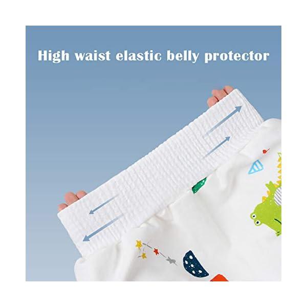 Teekit Comfy Childrens Diaper Skirt - Pantaloncini impermeabili e assorbenti per bambini 4