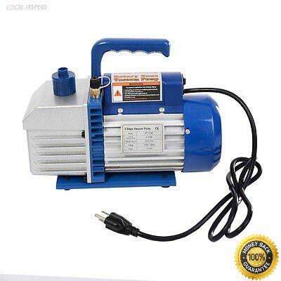 COLIBROX-- Dual 2 Stage 4CFM 1/3HP Rotary Vane Deep Vacuum Pump HVAC AC Air Tool R410a R134 by COLIBROX