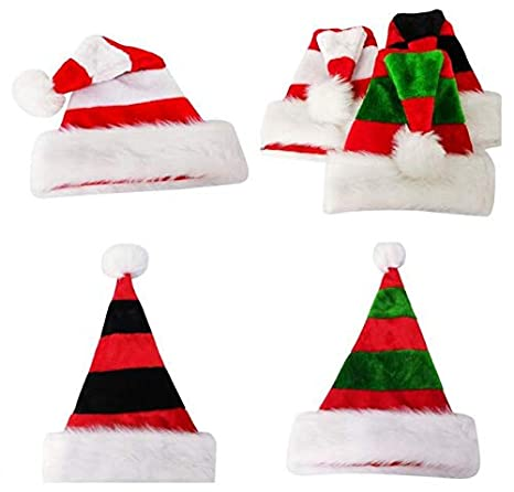 ad8a2aa39 Amazon.com: Hats For 5pcs Striped Christmas Hats Merry Caps Hat Kids ...