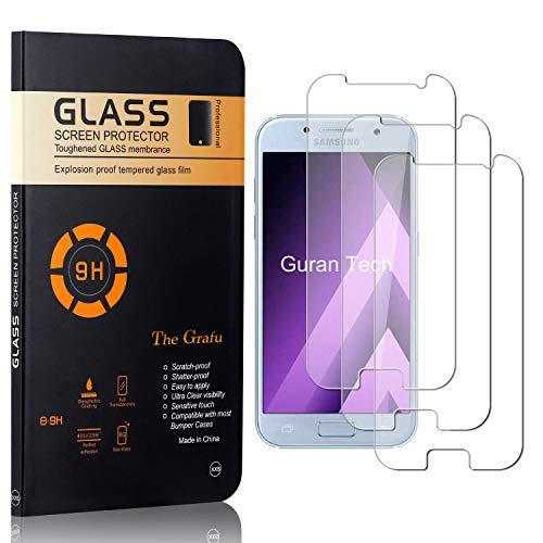 The Grafu Displayschutzfolie für Galaxy A5 2017, Anti Fingerabdruck, 3D Touch, Ultra klar Hart Schutzfilm aus Gehärtetem Glas für Samsung Galaxy A5 2017, 3 Stück