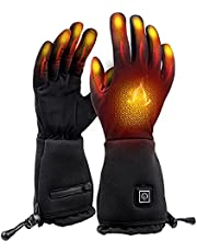 Heated Gloves Liner - Electric Rechargeable Battery Heated Ski Gloves Men Women