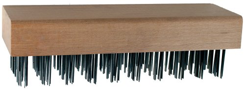 Bristles 10 Inch Hardwood Block - PFERD 85092 Maintenance Hardwood Block Straight Back Flat Wire Block Brush, Carbon Steel Bristles, 5