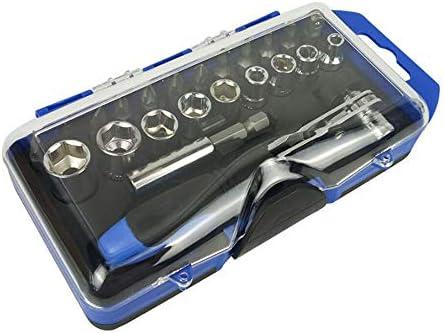 changchunST ソケットレンチセット ラチェットレンチ ガレージツールセット クロム鋼製 自動車修理 23点セット 専用収納ケース付属