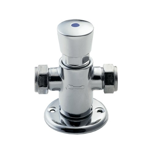 Deva NCT002 Exposed Self Closing Thermostatic Shower Valve with Chrome Finish by Deva