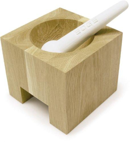 in legno di rovere e maiolica Sagaform Edge Mortaio con pestello