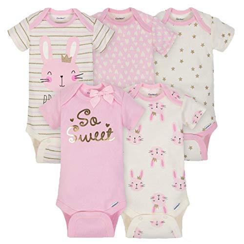 (Gerber Baby Girls Onesies Bodysuits 5 Pack, Sweet Princess, 3-6 Months)
