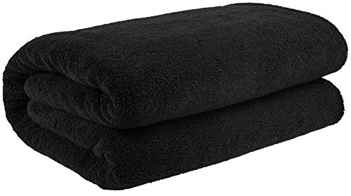40×80 Inches Jumbo Size, Thick and Large 650 GSM Bath Sheet Cotton, Luxury Hotel & Spa Quality, Absorbent and Soft Decorative Kitchen and Bathroom Turkish Towels, Coal Black