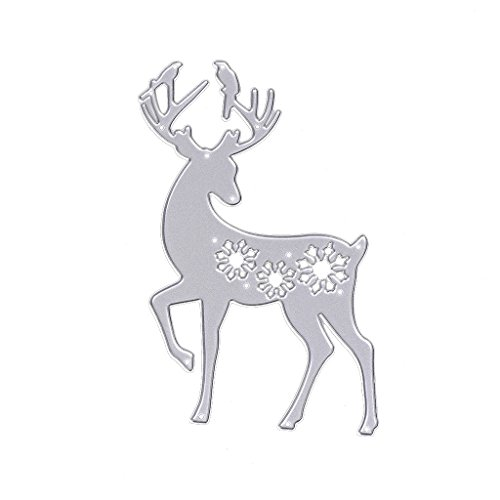 Cutting Dies Stencil Template Mould,Bottone DIY Metal Embossing Stencil for Album Scrapbooking Paper Card Art Craft Decor Christmas Design (Deer)