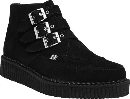 T Noir Boots Suede Creeper Mens K U Pointed rSgrq