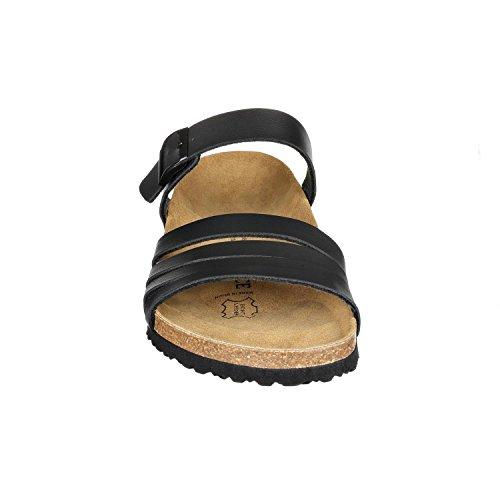 JOE N JOYCE Rome Synsoft Damen Sandalen Offene Schuhe Schwarz Größe 41
