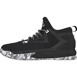 Adidas D Lillard 2 Mens Basketball Shoe 14.5 Black-White-Grey