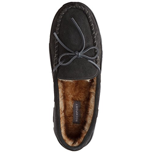 Outdoor Shoe Plush Memory Mens Rockport Slip Moccasin Grey Moccasin On Slipper Foam Indoor Suede qa8wTH