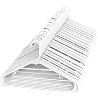 Sharpty White Plastic Hangers, Plastic Clothes Hangers Ideal for Everyday Standard Use, Clothing Hangers