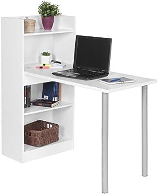 Home Collection24 PC de Escritorio nico Modern con estantería 121 ...