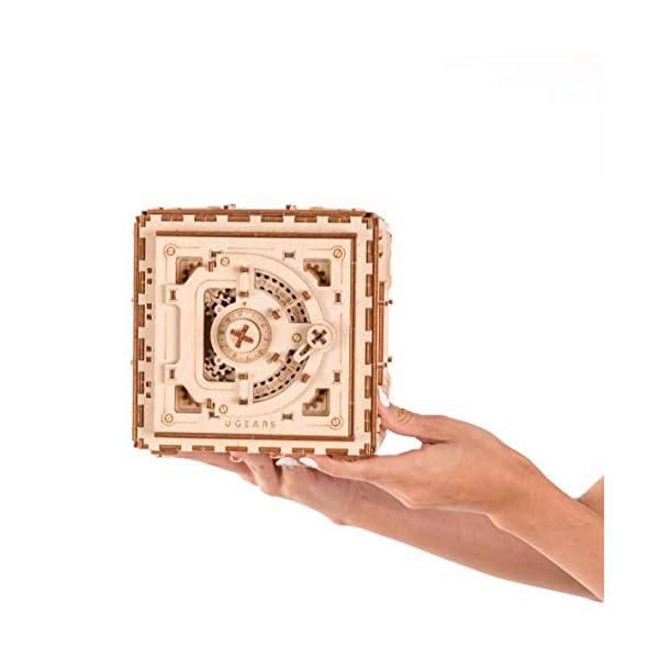 UGEARS Model Safe Kit | 3D Wooden Puzzle | DIY Mechanical Safe 5