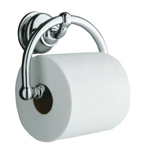 KOHLER K-12157-CP Fairfax Toilet Tissue Holder, Polished (Kohler Brass Toilet Paper Holder)