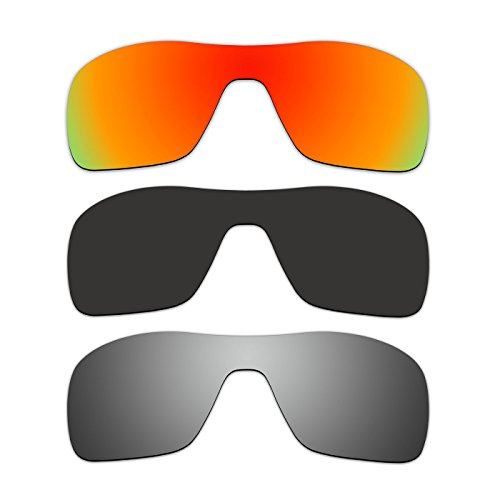 3 Pair ACOMPATIBLE Replacement Polarized Lenses for Oakley Turbine Rotor Sunglasses OO9307 Pack - Turbine Rotor