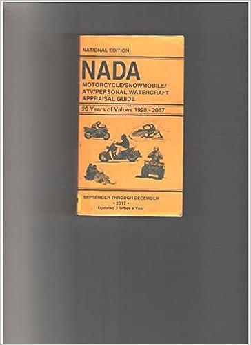 Nada Atv Values >> Nada Motorcycles Snowmobile Atv Personal Watercraft