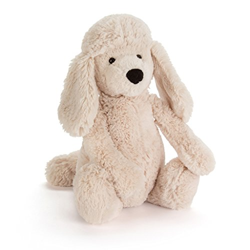 Jellycat Bashful Cream Poodle Pup, Medium, 12 inches