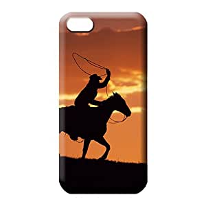 iphone 5c Sanp On Awesome High Grade phone case skin western cowboy at sunset