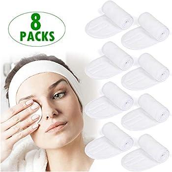 Awesome 8-Pack Hair Wrap Head Wrap Non-slip Makeup Headband