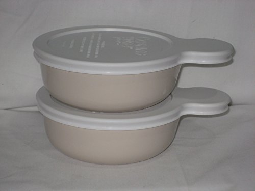 Set of 2 - Corning Ware Almond Color Grab-It Heat N' Eat Dis