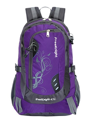 FRE-NIT Unisex Couples Miltifunction Travel Laptop packpack Purple