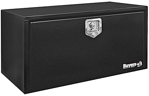 Buyers Products Black Steel Underbody Truck Box w/ T-Handle Latch (18x18x36 Inch) (Best Truck Tool Box)