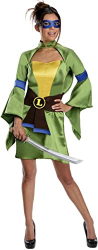 Secret Wishes Teenage Mutant Ninja Turtles, Leonardo Costume, Green, Large ()