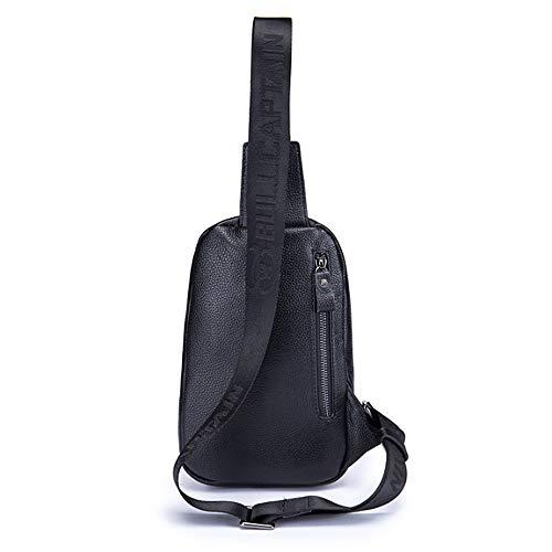 tracolla in borsa Borse a Tracolla borse a per spalla nera pelle a uomo spalla Yqxr e 00qxCB