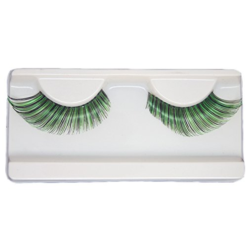 EMILYSTORES Green Fortune Teller Costume Halloween Eye Lashes For Party Looking1 Pairs]()