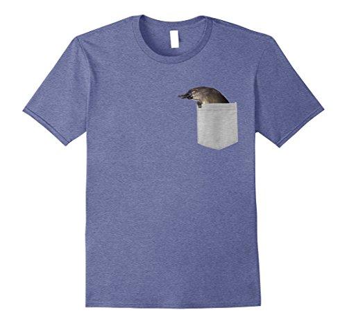 Blue Billed Ducks - Mens Animal in Your Pocket Duck Billed Platypus t-shirt shirt Medium Heather Blue