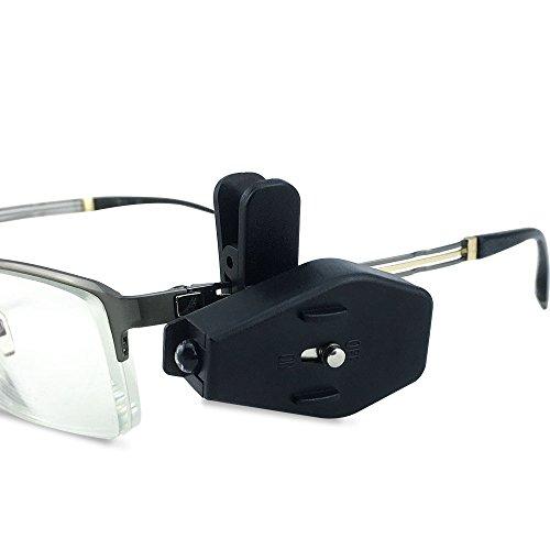 Potelin LED Flashlight Portable Eyeglass Clip On Adjustable Book Light Mini Flashlight