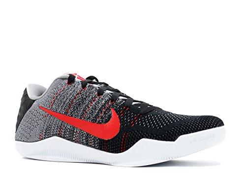 Nike Men's Kobe XI Elite Low, Tinker Hatfield-Cool Grey/University RED-Black, 10 M US