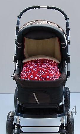 Babylux Fußsack Lammwolle 105cm Winterfußsack Kinderwagen Babyschale Fußsack Braun Baby