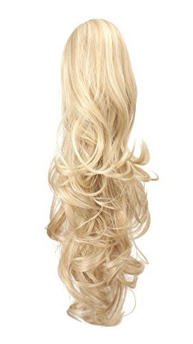 OneDor 20'' Curly Synthetic Clip In Claw Drawstring Ponytail Hair Extension Synthetic Hairpiece 190g with a jaw/claw clip (24H613) by Onedor