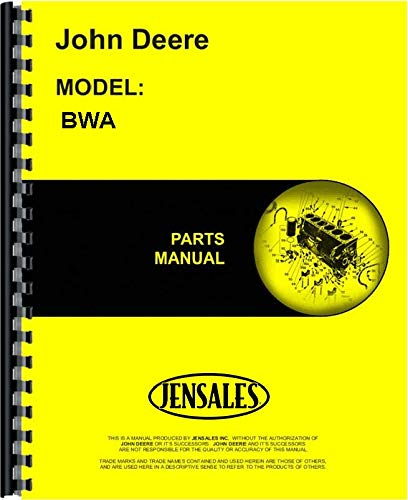 (John Deere BWA Disc Harrow Parts Manual)