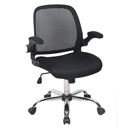 - Smugdesk Ergonomic Mesh Computer/Office/Desk/Task Chair, 360° Swivel and Mesh Padded Seat, Coal Black