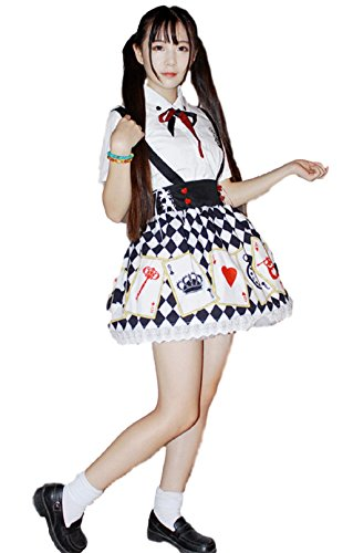 GLK Japanese Alice Style Costume Dress [L size for Women]Maid Cosplay