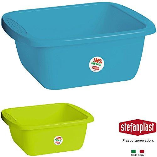 Waschschüssel aus Kunststoff, 45 x 35 x 18 cm, 17 L, versch. Farben: Spülschüssel Plastikschüssel Schüssel Camping Spüle