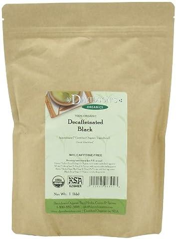 Davidson's Tea, Decaf Black, 16-Ounce Bag