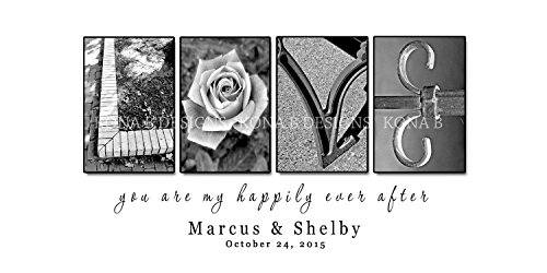 Creative Letter Art - Wedding gift - LOVE art - Personalized Alphabet Photography Name sign by Kona B Designs