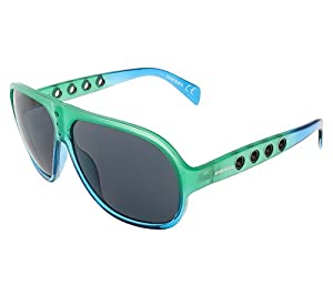 Diesel DL0097/S 98A Green and Blue Gradient Aviator sunglasses