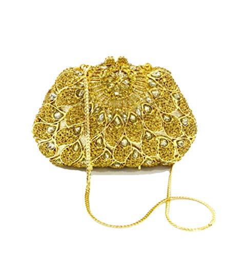 Piccola Wybxa Borsellino Donna Sposa Strass Alta Quadrata Ballo Moda Borsa Fascia Goldcolor Alla Nuova Da Sera Clutch Di UgxrRwaUq