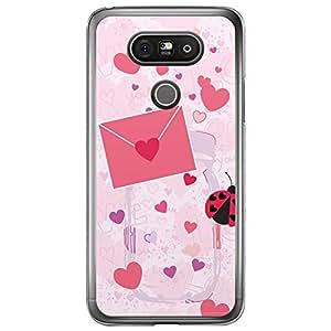 Loud Universe LG G5 Love Valentine Printing Files Valentine 158 Printed Transparent Edge Case - Pink