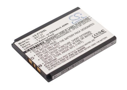 37 Original Battery Bst - Battery Replacement for Sony Ericsson W810i Z300a K510i BST-37 D750 D750i J100i J110a J110c J210i J220a J220c J220i J230c J230i K310a K310c K310i K510a