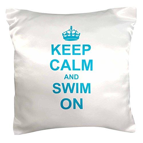 3dRose PC 157777_ 1Keep Calm And nadar on Carry On natación hobx o profesional nadador regalos divertido gracioso Humor...