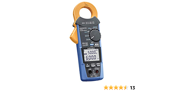 Hioki CM4372 True-RMS Clamp Meter 1000VAC//1500VDC//600A with Frequency Resistance and Bluetooth